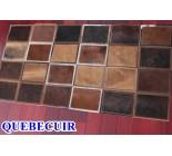 800162 cowhide rug patchwork