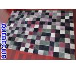 900643  cowhide rug tapis peau de vache PATCHWORK