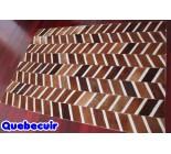 900668  cowhide rug tapis peau de vache PATCHWORK