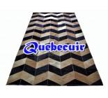 900670  cowhide rug tapis peau de vache PATCHWORK