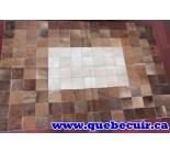 900784 cowhide rug tapis peau de vache PATCHWORK