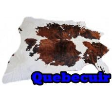 A 40722   Cowhide rug Tapis peau de vache   Collection Quebecuir Premium