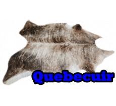A 40732  Cowhide rug Tapis peau de vache  Collection Quebecuir Premium