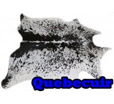 A 40733  Cowhide rug Tapis peau de vache  Collection Quebecuir Premium