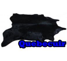 A 40750 Cowhide rug Tapis peau de vache BLACK DYED  Collection Quebecuir Premium XXXL