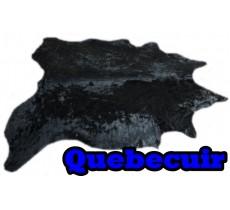 A 40751 Cowhide rug Tapis peau de vache BLACK DYED  Collection Quebecuir Premium