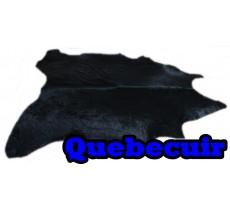 A 40752 Cowhide rug Tapis peau de vache BLACK DYED  Collection Quebecuir Premium