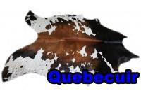 A 40903 Cowhide rug Tapis peau de vache  Collection Quebecuir Premium