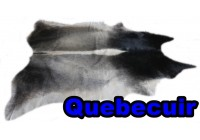 A 40912 Cowhide rug Tapis peau de vache XXL  Collection Quebecuir Premium