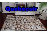 A 40950 Cowhide rug Tapis peau de vache PATCHWORK Collection Quebecuir Premium