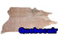 A 40951  Cowhide rug Tapis peau de vache XXL METALLIC COOPER COUIVRE Collection Quebecuir Premium