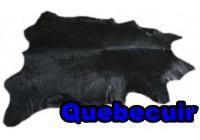A 40960 Cowhide rug Tapis peau de vache BLACK DYED Collection Quebecuir Premium