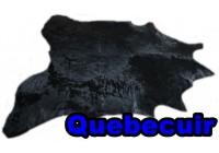 A 40961 Cowhide rug Tapis peau de vache BLACK DYED Collection Quebecuir Premium