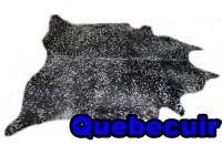 A 40971 cowhide rug tapis peau de vache XXXXL BLACK SILVER  METALLIC Collection Canada Premium SUPER SIZE