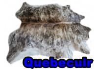 A 40993 Cowhide rug Tapis peau de vache  Collection Quebecuir Premium
