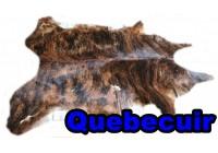 A 45001  Cowhide rug Tapis peau de vache    Collection Quebecuir Premium