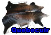 A 45002  Cowhide rug Tapis peau de vache    Collection Quebecuir Premium